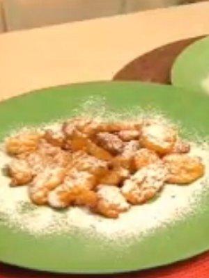 frittelle di zucca cotto e mangiato